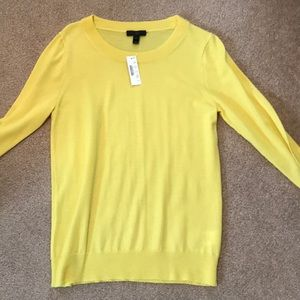 "J Crew Yellow ""Tippi"" sweater"